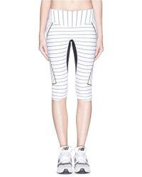 Lucas Hugh 'Nordica' Pinstripe Sports Leggings white - Lyst