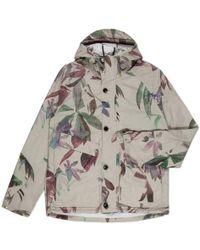 Paul Smith Ecru Digital Floral Print Hooded Jacket floral - Lyst