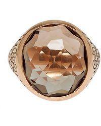 Laurent Gandini - Rose Gold Smoky Quartz Oval Ring - Lyst