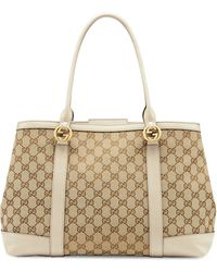 Gucci Miss Gg Large Canvas Tote Bag - Lyst