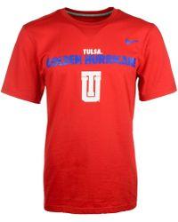 Nike Mens Short-sleeve Tulsa Golden Hurricane T-shirt - Lyst