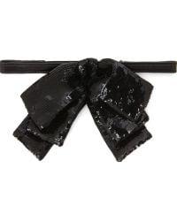 Saint Laurent Sequin Noeud Triple Bow Tie - Lyst