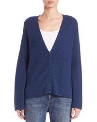 Eileen Fisher | Wool Zip-front Cardigan | Lyst