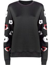 Karl Lagerfeld Choupette Eyes Sweatshirt - Lyst