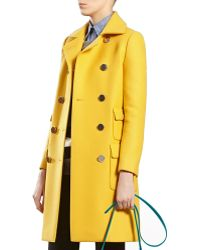 Gucci Yellow Wool Coat - Lyst