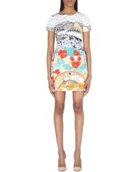 Mary Katrantzou Liv Printed Stretch-cotton Dress - Lyst