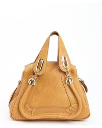 Chloé Orange Leather 'Paraty' Small Convertible Top Handle Bag - Lyst