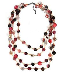 Aeravida - Red Tone Beauty Mother Of Pearl Handmade Necklace - Lyst