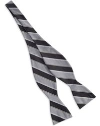 Vince Camuto Striped Bow Tie - Lyst