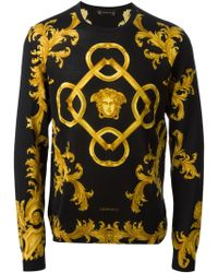 Versace Baroque Sweater - Lyst