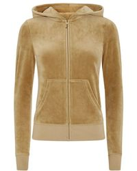 Juicy Couture Floral Jewel Velour Hoodie - Lyst