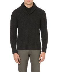 G-Star RAW Shawl-neck Knitted Jumper - For Men - Lyst