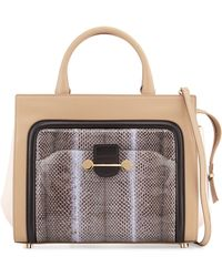 Jason Wu - Daphne Watersnake and Leather Tote - Lyst