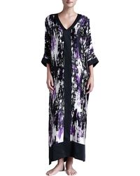 Donna Karan New York Glamour Abstractprint Silk Caftan - Lyst