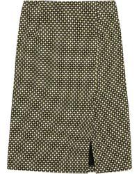 Jonathan Saunders Vida Printed Silk and Woolblend Pencil Skirt - Lyst