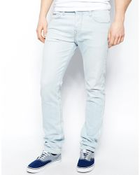 True Religion Jeans Rocco Slim Fit Sky Bleach Wash - Lyst