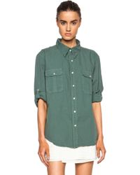 NSF Clothing Surplus Cotton Button Up - Lyst