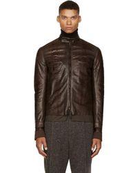 Haider Ackermann Ssense Exclusive Brown Python Leather Jacket - Lyst