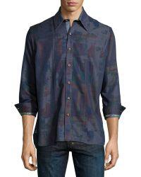 Robert Graham Pourhouse Abstract-Print Sport Shirt - Lyst