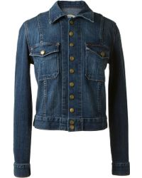 Current/Elliott Washed Denim Jacket - Lyst