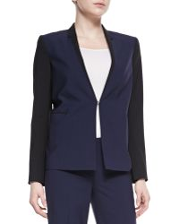 Elie Tahari Evie Colorblock Stretchwool Jacket - Lyst