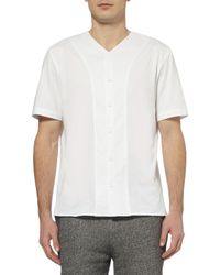 Alexander Wang Buttoned Jersey and Poplin Cotton Tshirt - Lyst
