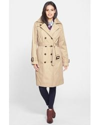 London Fog Double-Breasted Trench Coat - Lyst