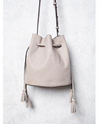 Free People Bleeker Bucket Bag beige - Lyst