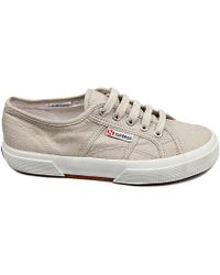Superga Linen Sneakers - Lyst