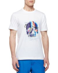 Robert Graham Skull-Face Graphic T-Shirt - Lyst