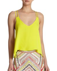 Parker Knox Strappy Silk Tank Top - Lyst