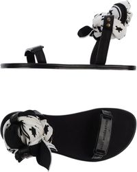 Avec Moderation Sandals black - Lyst