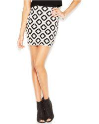RACHEL Rachel Roy Diamond-Print Mini Skirt - Lyst