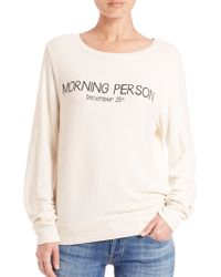 Wildfox | Morning Person Sweatshirt | Lyst