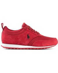 Polo Ralph Lauren Logo Embroidered Sneakers - Lyst