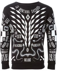 Marcelo Burlon County Of Milan Black Printed Sweatshirt - Lyst
