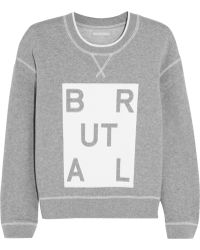 Richard Nicoll - Brutal Printed Cotton-Jersey Sweatshirt - Lyst