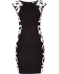 Lipsy Cap Sleeved Bodycon Side Detail Dress - Lyst