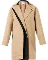 Atto - Single-Breasted Textured Coat - Lyst