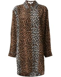 Elizabeth And James Long Animal Print Blouse - Lyst