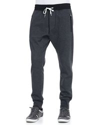 Vince Drawstring French Terry Pants - Lyst