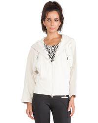 Adidas By Stella Mccartney Essentials Zip Hoodie - Lyst