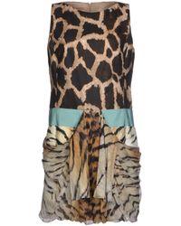 Giambattista Valli Linen and Silk-georgette Animal-print Dress - Lyst