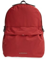 Burberry 'Tiller' Nylon & Leather Backpack red - Lyst
