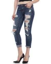 Eunina - Sexy Boyfriend Crop Jeans - Lyst