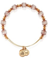 ALEX AND ANI Infinite Love Beaded Expandable Wire Bangle - Lyst