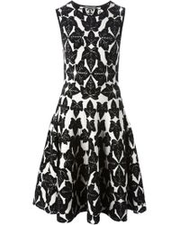 Alexander McQueen Leaf Jacquard Dress - Lyst