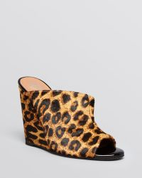 Jeffrey Campbell Open Toe Slide Mule Wedge Pumps - Jovie - Lyst