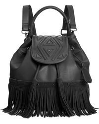 Dolce Vita - Lottie Fringe Drawstring Bucket Backpack - Lyst