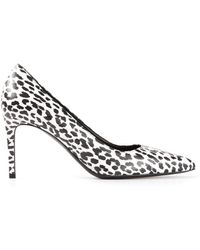 Saint Laurent White Paris Pumps - Lyst